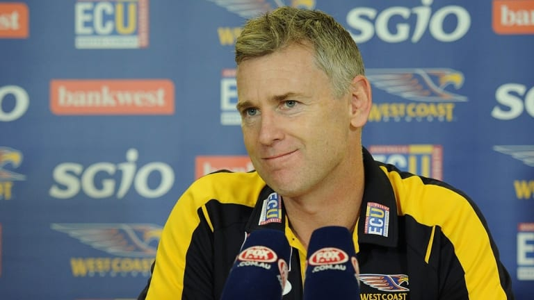 Adam Simpson: Not thinking too deeply just yet.