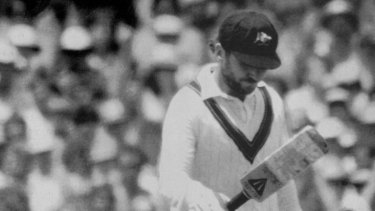 Allan Border, pictured after being dismissed after the 1986 Boxing Day test, was instrumental in improving the Australian culture.