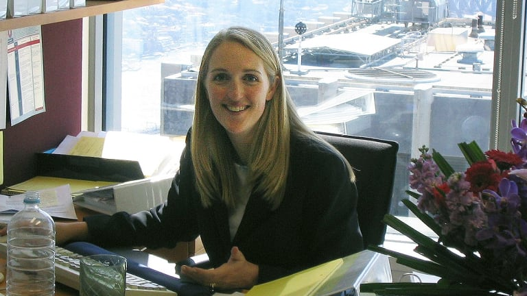 Lindt Cafe siege victim Katrina Dawson while she was a solicitor at law firm King & Wood Mallesons.