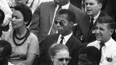 Writer and social critic James Baldwin, centre, managed to maintain friendships with both Martin Luther King and Malcolm X – no mean feat.