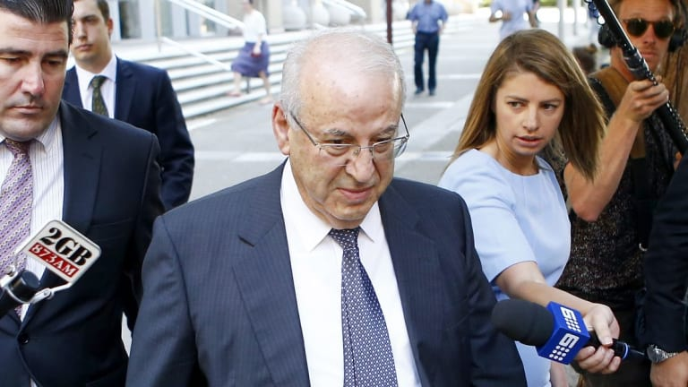 Now-jailed Eddie Obeid, shown here outside the NSW Supreme Court last December, was part of the state-level machinery.
