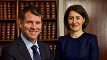NSW Premier Mike Baird and Treasurer Gladys Berijiklian.