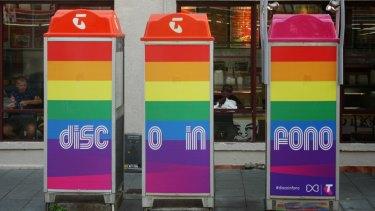 """Telstra """"disco phone boxes""""."""