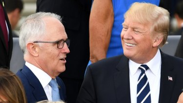 Malcolm Turnbull with Donald Trump at the G20. The role of US capital markets in the Australian economy is no accident.