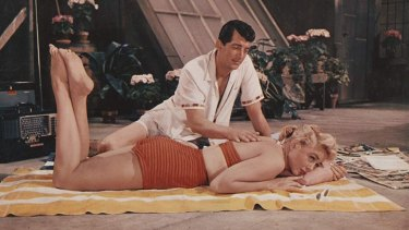 Dean Martin and Dorothy Malone in Artists and Models.