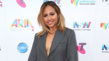 Singer Jessica Mauboy says she had a panic attack after a dispute over a styling issue on Cup day and was unable to sing the national anthem as had been planned.