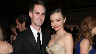 Second marriage: Miaranda Kerr with her husband, Snapchat founder Evan Spiegel, in 2016.