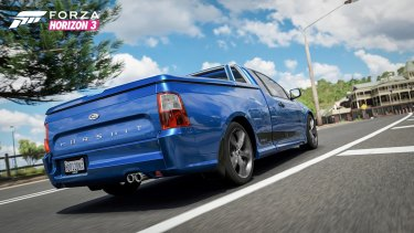 The utes in the game will not be exclusively Holdens, there are several Fords including this FPV Pursuit.