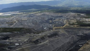 Coal mines in the Upper Hunter Valley near Bulga.