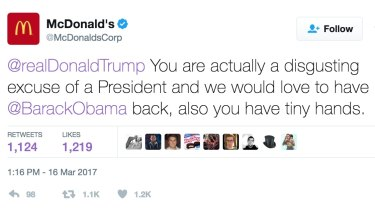 A screencap of the now deleted tweet.