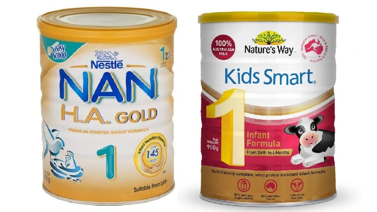 Tests showed Nestle NAN H.A. Gold 1 and Nature's Way Kids Smart 1 baby formulas contained potentially toxic nanoparticles.