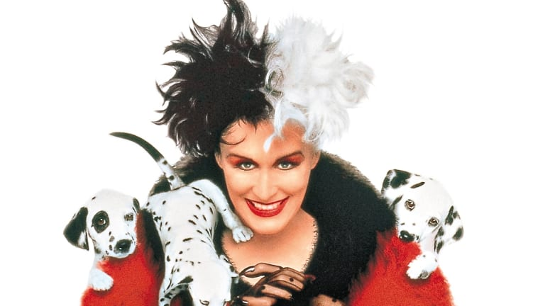 Rocking the greys: Glenn Close as Cruella De Vil in <i>101 Dalmatians</i>.