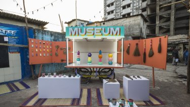 The Daravi mobile museum launched by Spanish artists Jorge Manes Rubio and Amanda Pinatih on Friday.