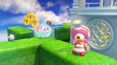The good captain is joined on this adventure by his treasure-seeking pal Toadette.
