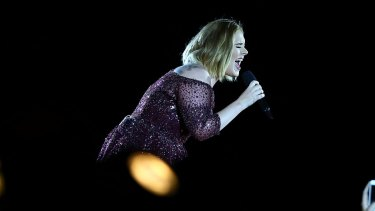 Adele opening her Australian tour in Perth.
