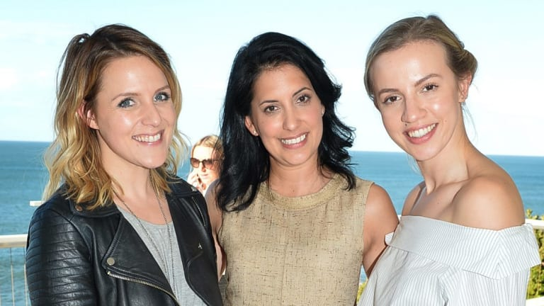 beauty director Hayley D'Onofrio, La Mer global brand product development vice-president Robin Shandler and