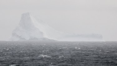 All white:This iceberg at Cierva Cove was the right way up.