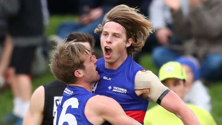 Mature-age draft prospects Mitch Hannan has helped spark Footscray's season, and will be one to watch for AFL recruiters.