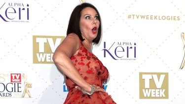 Julia Morris' fall on the Logies stage was carefully rehearsed, according to sources.