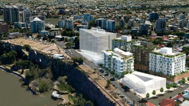 The proposed development would front both River Terrace and Main Street in Kangaroo Point.
