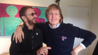 Surviving Beatles Ringo Starr and Paul McCartney collaborated on a new track.