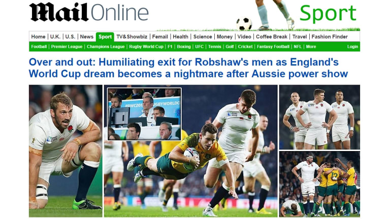 Humiliating: The Daily Mail Online on October 4, 2015.