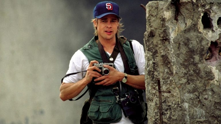 Brad Pitt - seen here in in the movie Spy Game - is a big fan of Leica cameras.