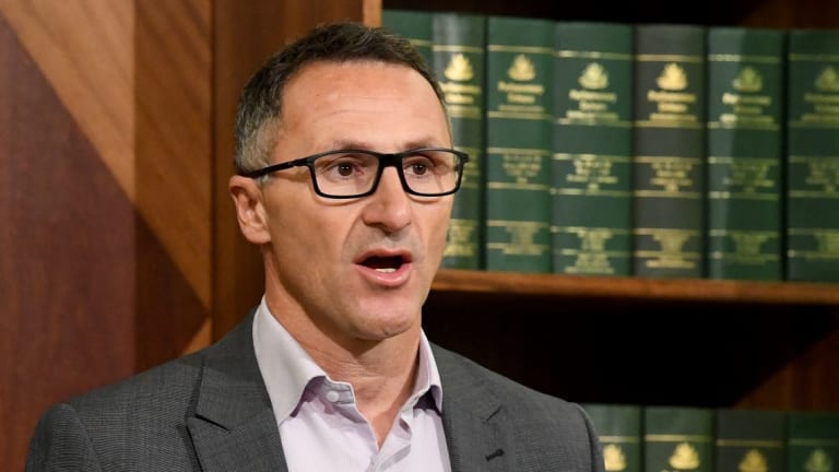 """""""We want an increased investment in the ABC and SBS,"""" Senator Richard Di Natale said."""