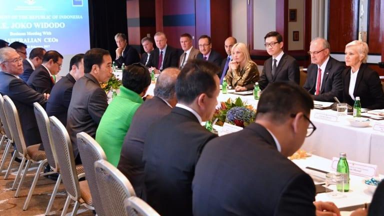 Australian CEOs meet Indonesian President Joko Widodo in Sydney last month.
