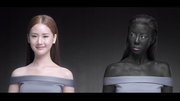The Snowz ad has caused outrage even in Thailand where skin-whitening products are popular.