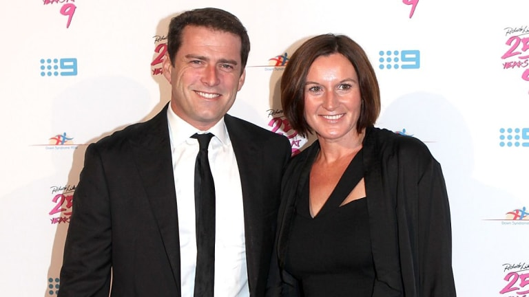 Karl Stefanovic and Cassandra Thorburn pictured in 2012.