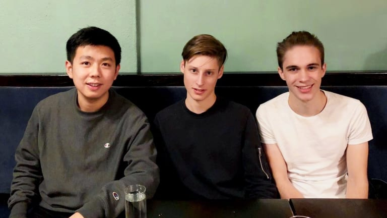 """Eric [Tao, left], Ben, and Isaiah met in New York to not only discuss the details of the acquisition but also about the prospective future of the mobile app industry as a whole,"" HOLLA's Allen Loh says."