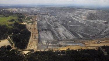 Rio Tinto's Warkworth open-cut coal mine near Bulga in the Hunter Valley.