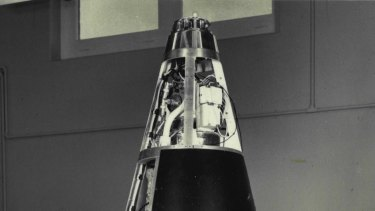 The WRESAT satellite that was launched into the Earth's orbit from Woomera, South Australia, in November 1967.