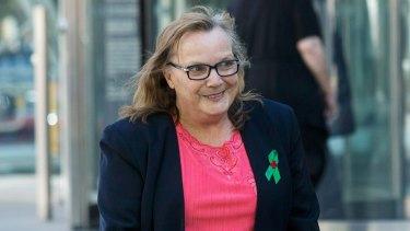Elizabeth Pallett at the County Court on Thursday.
