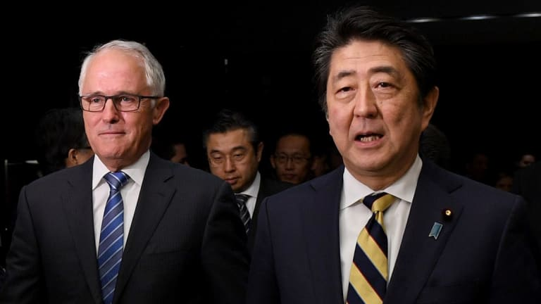 Prime Minister Malcolm Turnbull discussed the TPP deal in Tokyo last week with Japanese leader Shinzo Abe.