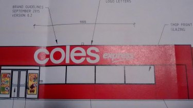 The original application to the City of Swan featured Coles Express branding on the service station, which has since been removed.