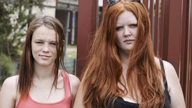 Bailey, left, and Erin, from the first season of <i>Struggle Street</i>.