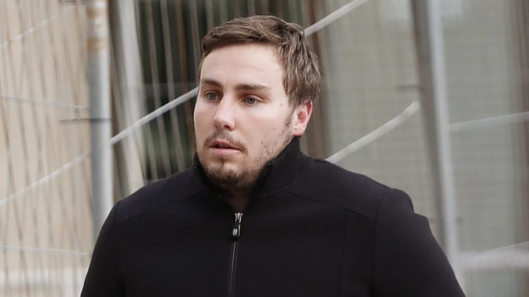 Adam Cranston leaves Sydney Police centre after being released on bail on Thursday.