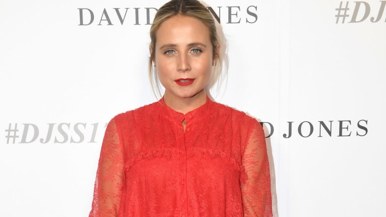 Tessa James arrives for the David Jones Spring Summer 2017 collection launch.