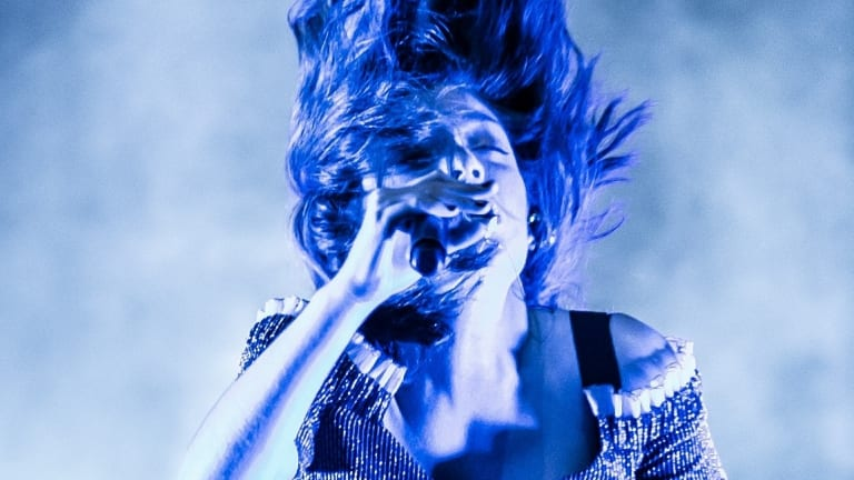 Lorde performs at the Opera House forecourt. Photo: Wolter Peeters, 21st November 2017, The Sydney Morning Herald. . THEBESTOF2017