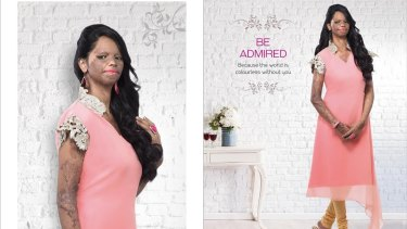 Laxmi as she appears in new advertising material by Viva N Diva