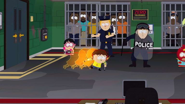 The incredible racism of South Park's police force is a running theme.