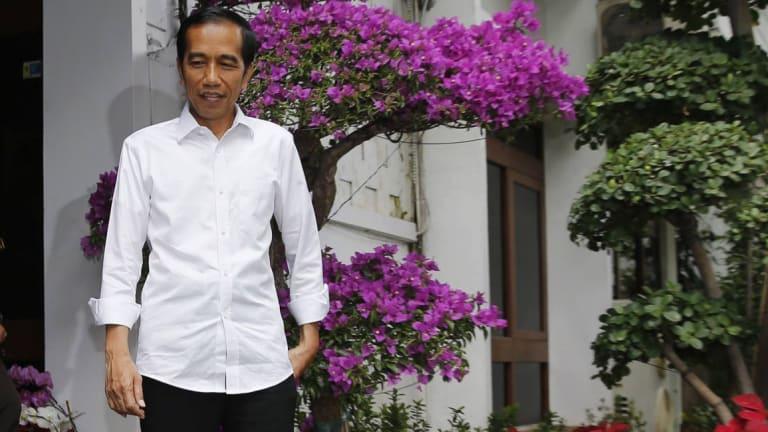 "He's the man: Indonesia's new President Joko ""Jokowi"" Widodo  was sworn in on Monday."