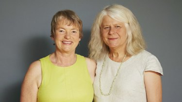 Embracing change: Greens senator Janet Rice (left), with her partner, Nobel Prize-winning climatologist Penny Whetton.