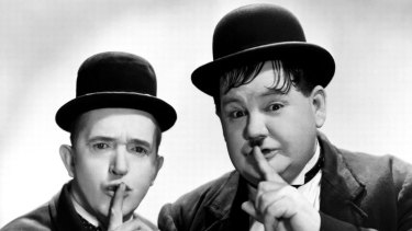 Laurel and Hardy - Laurel was tough minded while Hardy was gentle.