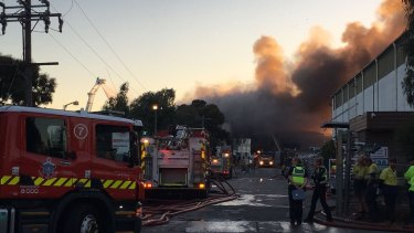 The Coolaroo blaze is being battled by 130 firefighters.