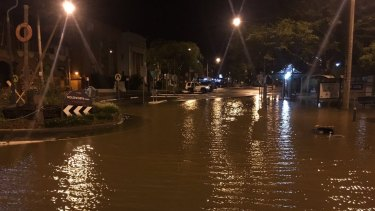 The Lismore CBD was inundated with floodwater on Friday morning.
