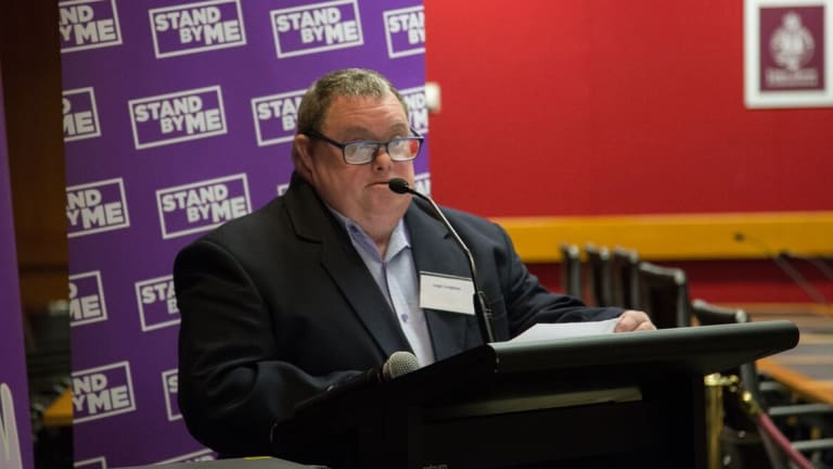 Leigh Creighton, who has Down syndrome, made a personal plea to the NSW Premier.
