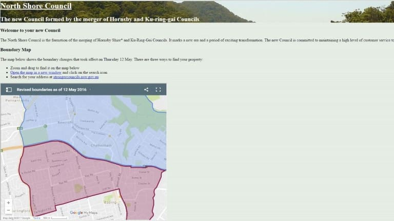 A screenshot of northshorecouncil.com, which has since been taken down.